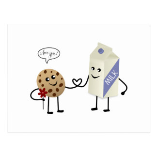 Cute Couple - Milk and Cookie Post Cards