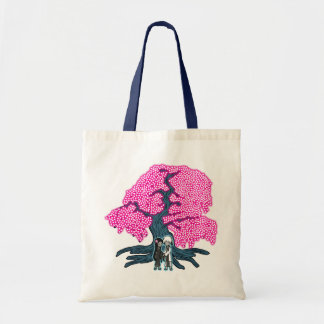 Cute Couple Under The Cherry Blossom Tree Bags