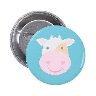 Cute Cow 6 Cm Round Badge