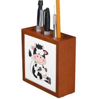 Cute Cow Cartoon Desk Organiser