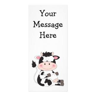 Cute Cow Cartoon Full Color Rack Card