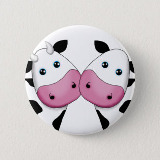 Cute Cow Couple 6 Cm Round Badge