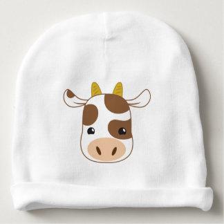 cute cow face baby beanie
