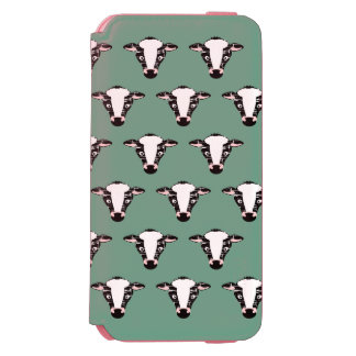 Cute Cow Face Pattern Incipio Watson™ iPhone 6 Wallet Case