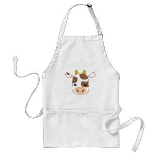 cute cow face standard apron