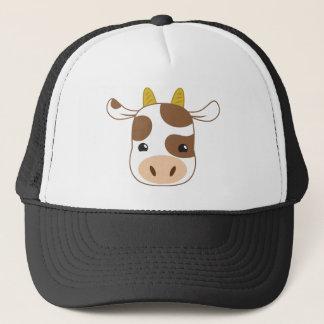 cute cow face trucker hat