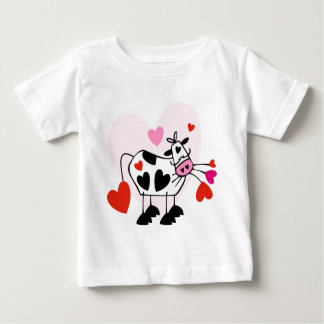 Cute cow in love baby T-Shirt