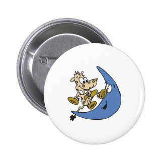 cute cow jumping over moon pinback buttons
