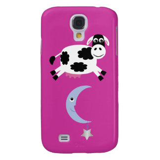 Cute Cow Jumping Over The Moon Samsung Galaxy S4 Cases