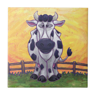 Cute Cow Kitchen Accessories Small Square Tile
