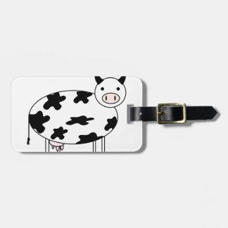Cute Cow Luggage Tag