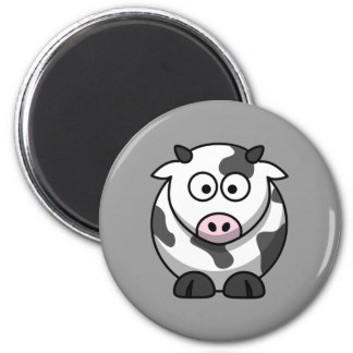 Cute Cow 6 Cm Round Magnet