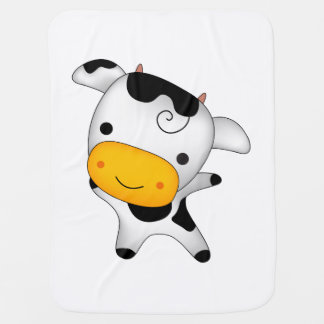 Cute cow receiving blankets