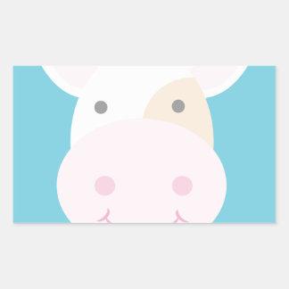 Cute Cow Rectangular Sticker