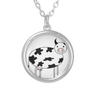 Cute Cow Silver Plated Necklace