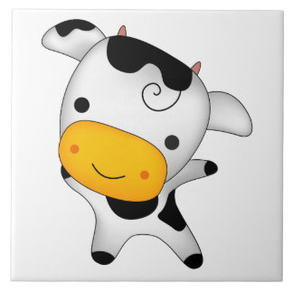 Cute cow tile