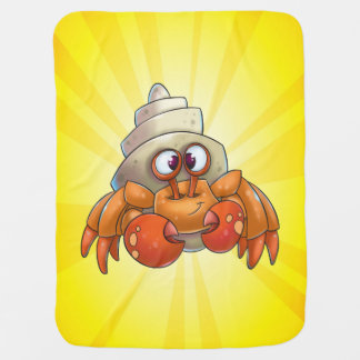 Cute crab baby blanket cartoon yellow