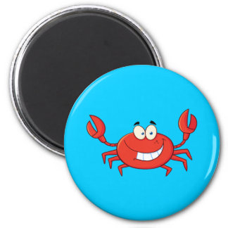 Cute Crab Cartoon 6 Cm Round Magnet