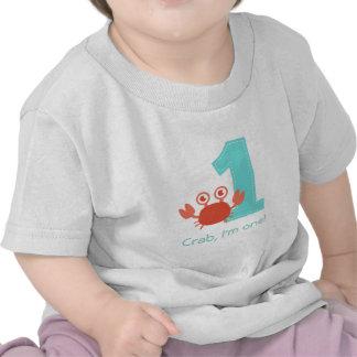Cute Crab Crab I m One First Birthday Shirt