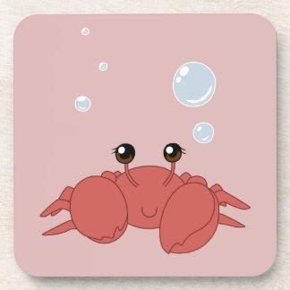 Cute crab drink coaster