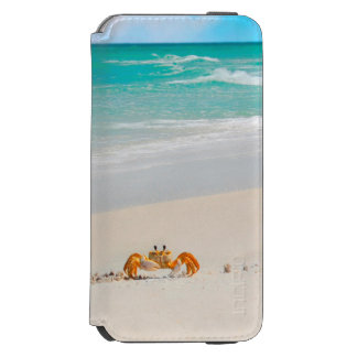 Cute Crab on a Tropical Beach Incipio Watson™ iPhone 6 Wallet Case