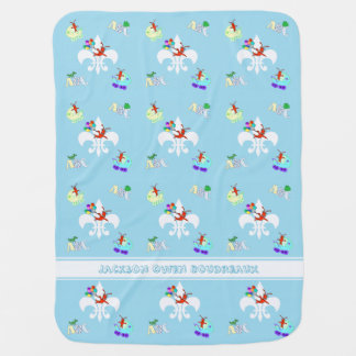 Cute Crawfish Cajun Baby Boy Baby Blanket