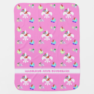Cute Crawfish Cajun Baby Girl Baby Blanket