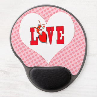 Cute Crawfish Lobster Love Heart Gel Mouse Mats