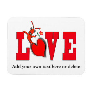 Cute Crawfish / Lobster Love Magnet