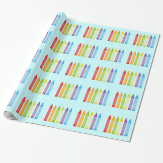 Cute Crayon Wrapping Paper