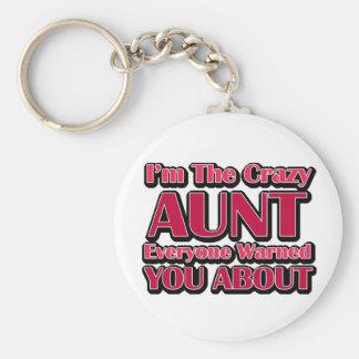 Cute Crazy Aunt Saying Key Ring