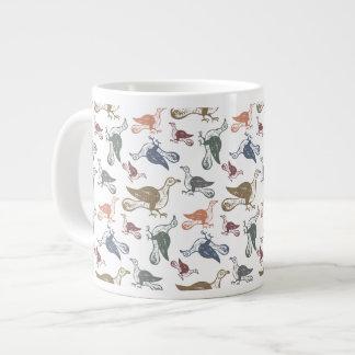 Cute Crazy Bird Pattern - Bird Watcher's Funny Large Coffee Mug