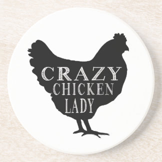Cute Crazy Chicken Lady Coaster