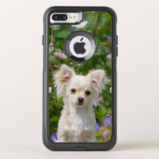 Cute cream Chihuahua Dog Puppy Pet Photo - on OtterBox Commuter iPhone 8 Plus/7 Plus Case