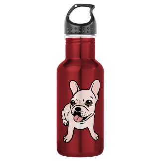 Cute cream Frenchie is ready to play 532 Ml Water Bottle