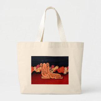 Cute Creature Fantasy Illustration Jumbo Tote Bag