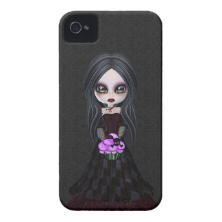 Cute & Creepy Little Goth Girl BlackBerry Bold iPhone 4 Covers