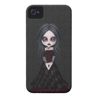 Cute & Creepy Little Goth Girl BlackBerry Bold iPhone 4 Case-Mate Case