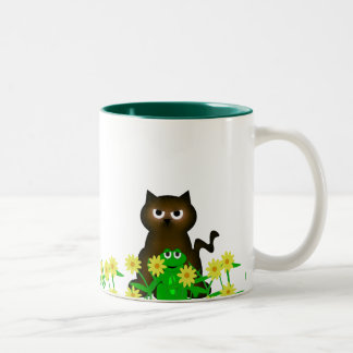 Cute Critters Collection  Kitty and Froggy Mug