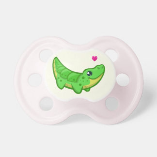 Cute crocodile love kawaii cartoon baby girl baby pacifiers
