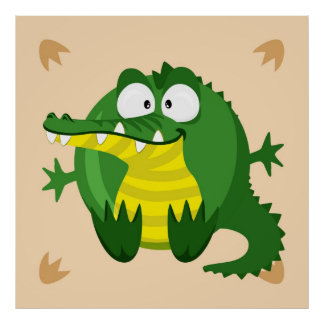 Cute crocodile poster