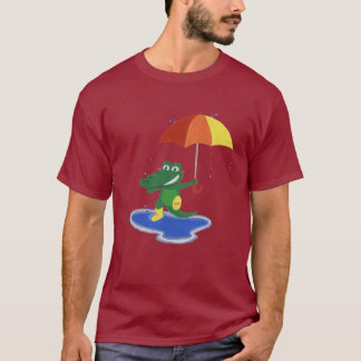 Cute crocodile under the rain T-Shirt