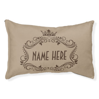 Cute Crown Personalized Dog Pillow Bed