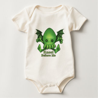 Cute Cthulhu Chibi Kneel Before Me Baby Bodysuit