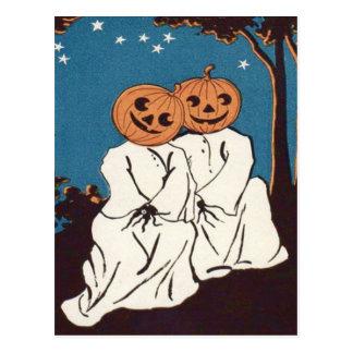 Cute Cuddle Pumpkin Jack O' Lantern Ghost Postcard