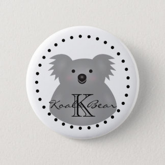 Cute Cuddly Australia Baby Koala Bear Monogram 6 Cm Round Badge
