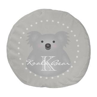 Cute Cuddly Australia Baby Koala Bear Monogram Pouf