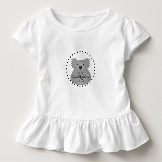 Cute Cuddly Australia Baby Koala Bear Monogram Toddler T-Shirt