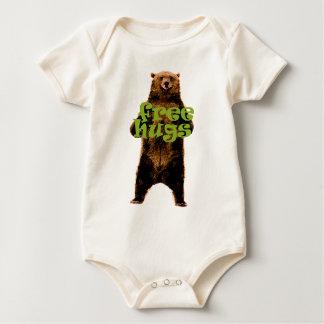 cute & cuddly free hugs bear design baby bodysuit