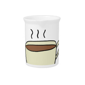 CUTE CUP OF COFFEE PITCHER